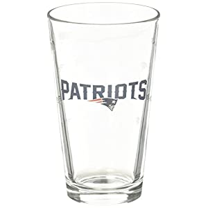New England Patriots Satin Etch Pint Glass Set