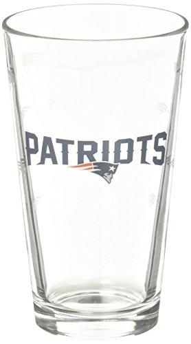 New England Patriots Satin Etch Pint Glass - Glasses Website