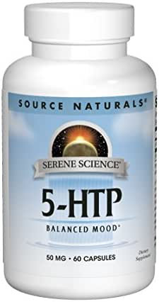 Source Naturals Serene Science 5-HTP 50mg, Balanced Mood, 60 Capsules