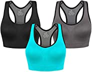 Raceback Sports Bras for Women-High Impact Full Coverage All-Round Support for Yoga Gym Workout Fitness