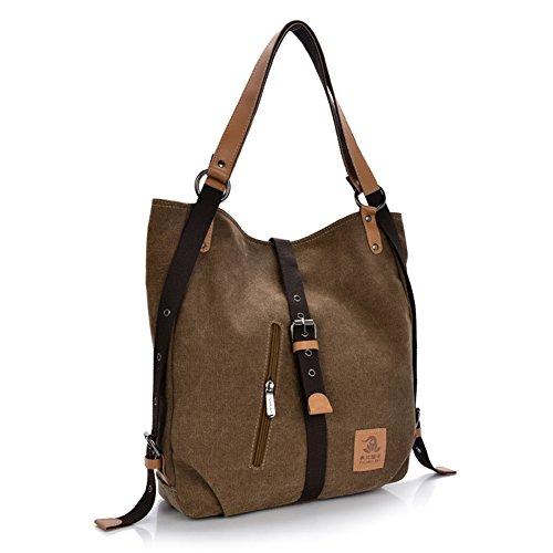 (Women Shoulder Bag, Fashion Backpack, Multifunctional Canvas Handbag, Casual Rucksack,)