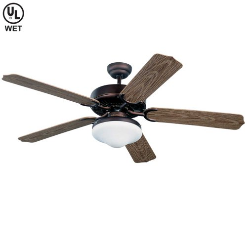 Kit Deluxe Motor (Monte Carlo 5WF52RBD-L Weatherford Deluxe 52-Inch 5-Blade Outdoor Ceiling Fan with Light Kit, Roman Bronze Finish)