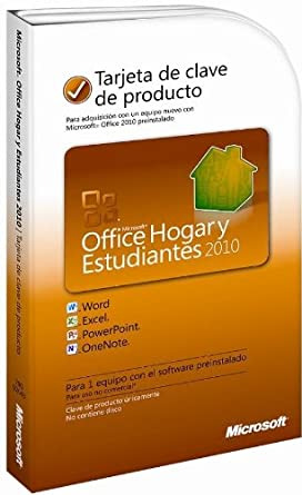 clave de producto office 2010 home and student