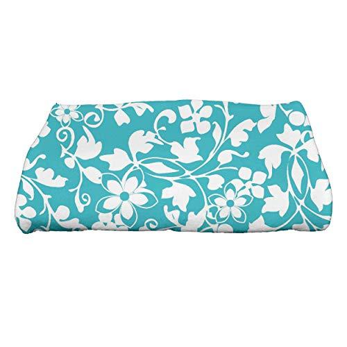 Ebydesign Evelyn Floral Print Bath Towel 28 x 58 Yellow