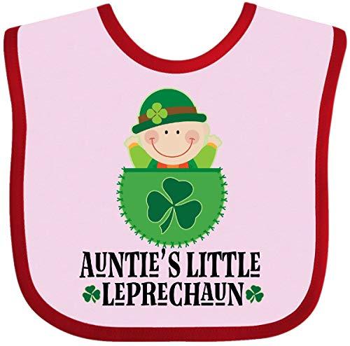 Inktastic - St Patricks Day Auntie Leprechaun Irish Baby Bib Pink and Red 2ef0e