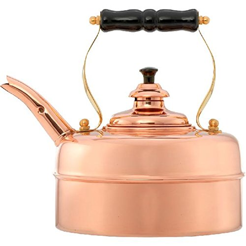 Simplex Kettles Kensington Solid Copper No. 1 Copper Finish 1.9 Quart Teakettle