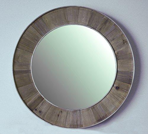 InFurniture WK1811 (round mirror) Round Solid Recycled Fir Mirror, -