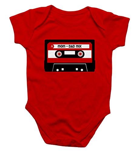 Rock Scissor Paper Mix Tape Baby Bodysuit - Red - ()