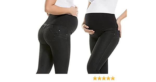 b1fffdf6caf50 Virtual Sensuality Maternity Butt Lift Jeans Stretch Push up Pregnancy  Waist Support | Levanta Cola | Joy, Size 5 at Amazon Women's Clothing store: