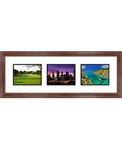 "Frames By Mail Triple Square Opening Collage Frame for 7"" x"