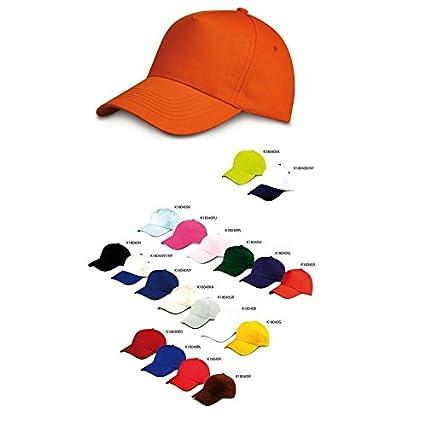 STOCK 50 PEZZI ECONOMICO CAPPELLO CAPPELLINO UOMO DONNA cotone colorato  visiera rigida ad09c299737e