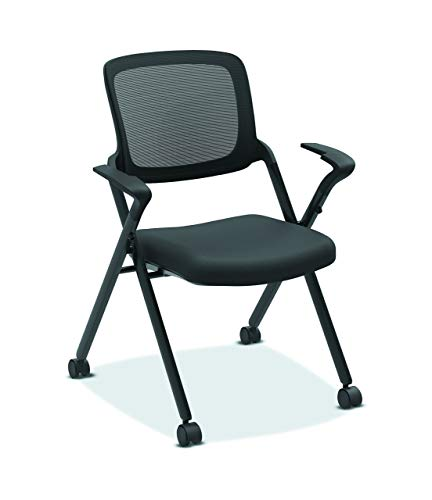 HON Assemble Mesh Back Nesting Chair - Stacking Chairs, Pack of 2 (Renewed)