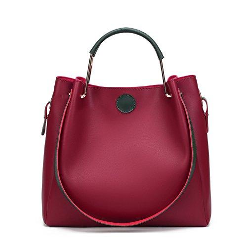 vinicio-womens-fresh-simple-joker-soft-pu-leather-bucket-bag-shoulder-bag-handbagred