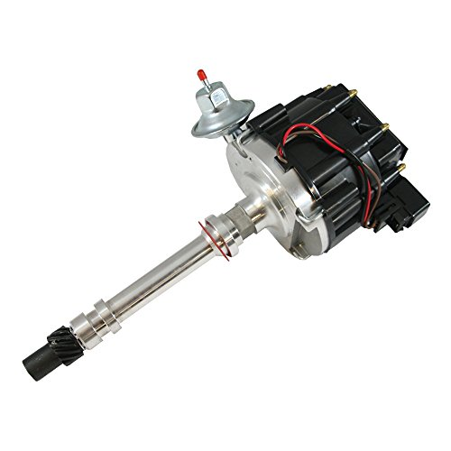 Assault Racing Products 1035012 Chevy V8 Black Cap Complete HEI Distributor 50k Volt Ignition Coil SBC BBC 305 350 454