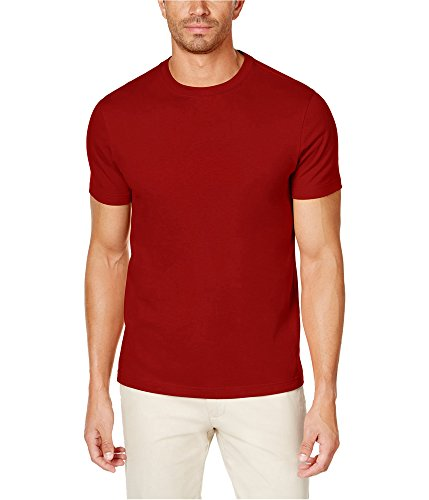 Club Room Mens Crew Neck Short Sleeves T-Shirt Red XL from Club Room