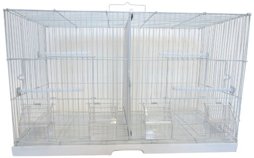 YML 3/8-Inch Canary Finch Breeding Cage 2414, Small, White by YML