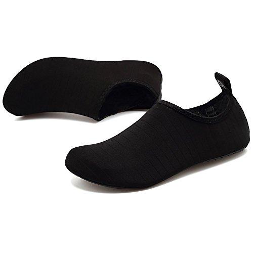 Scarpe Yoga Scarpe da e Spiaggia Scarpe Suole da da da Scarpe con Corsa Uomini Donne Pantofole Immersione in da da Mare Casa barefoot Scarpe da Striscia Surf da Scoglio Nera Neopre per da Snorkeling Spugna 8gxxwRqU4