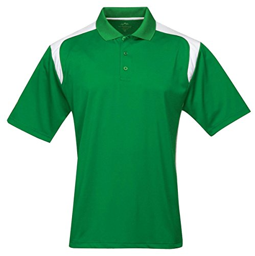 Tri-mountain Mens 100% Polyester UC Knit Polo Shirt. 145TM - KELLY GREEN / - Kelly Green Polyester