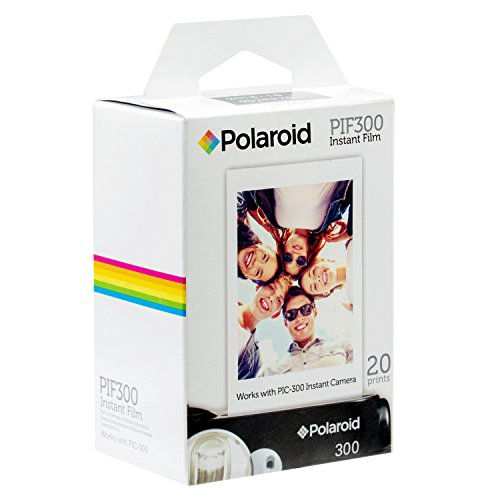 Polaroid PIF300 Instant Film Replacement - Designed for use with Fujifilm Instax Mini and PIC 300 Cameras (20 -
