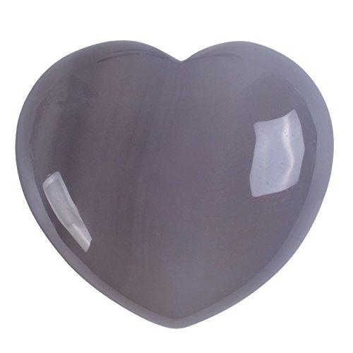 45mm puff LOVE hearts Crystal healing Reiki worry stone 1.8