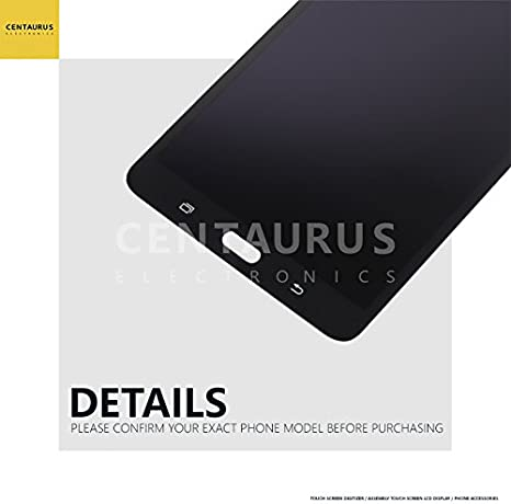 Replacement for Samsung Galaxy Tab A 7.0 2016 WiFi T280 LCD Display Touch Screen Digitizer Assembly Part Repair Black Not Fit 3G Version /& T285 /& No Earpiece Hole