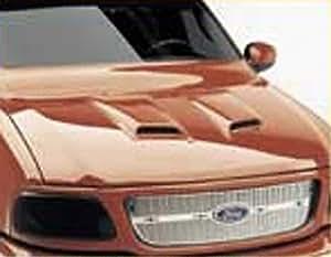 auto ventshade 982002 unpainted medium hood scoop 2 piece automotive. Black Bedroom Furniture Sets. Home Design Ideas
