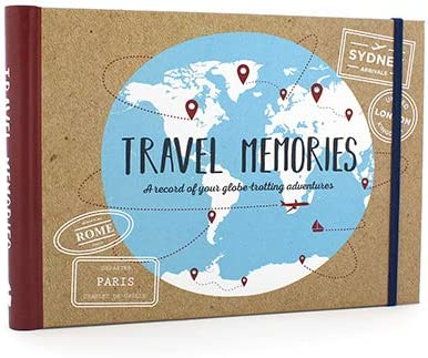 Ginger Fox 96 Page Travel Memories Scrapbook - Flexible Album for Personalisation with Fill in Text, Photos & Souvenirs