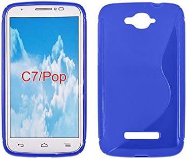 S de Case Carcasa de silicona para Alcatel One Touch Pop C7 7041 X 7040 A 7040 F Alcatel Pop C7 Funda Flip Cover Funda de silicona: Amazon.es: Electrónica