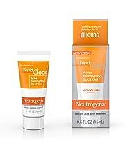 Neutrogena Rapid Clear Acne and Pimple Spot Treatment Gel with Salicylic Acid and Witch Hazel, 15 mL