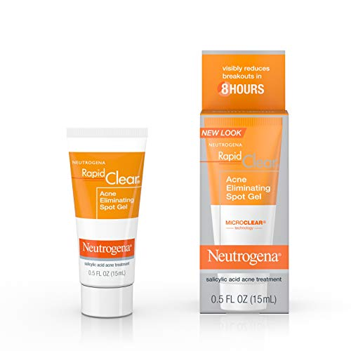 Neutrogena Rapid Clear Acne Eliminating Spot Treatment Gel with Witch Hazel and Salicylic Acid Acne Medicine for Acne-Prone Skin, 0.5 fl. oz (Neutrogena Visibly Clear 2 In 1 Mask)