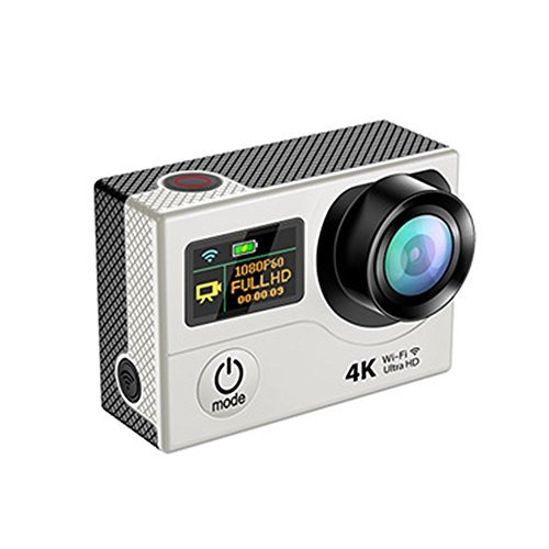URWise 4K-H3 Sport Camera Wifi Waterproof Ultra HD 4K 2 0 inch LCD Screen Dual 170 Degree Angle View Sport Action Camera Support Android / ISO APP White