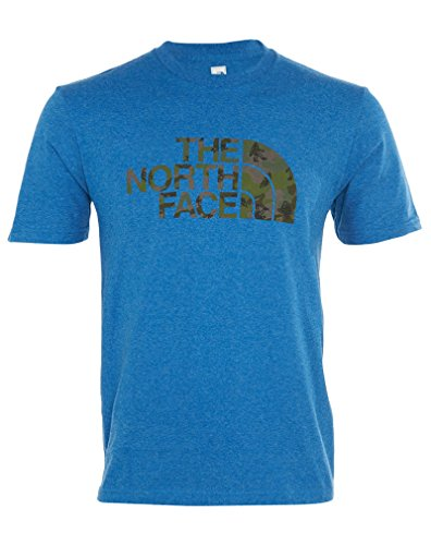 The North Face S/S Wander Camo Tee Mens Snorkel Blue Heather F9GY1ys5