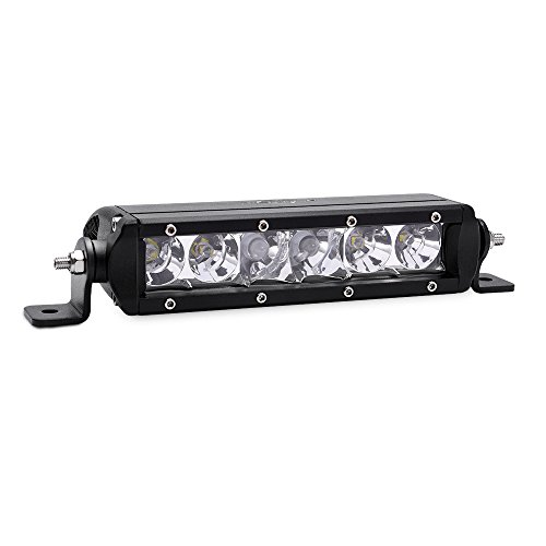 MICTUNING MIC-5DP30, SR-Mini Series 30W Single Row Cree LED Light Bar Combo Spot Flood 2700 lm, 400m Visibility, 8'' L