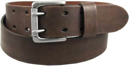 Levi's Men's 38Mm Bridle Double Prong Buckle Belt,Brown,36 (Mens Bridle)