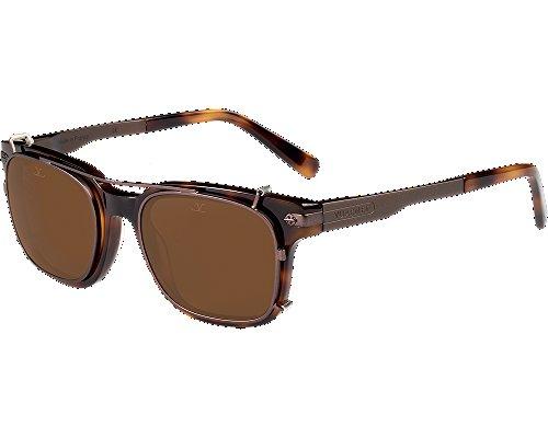 Vuarnet VL140500022121 Clip-On Sunglasses Dark Tortoise Frame Pure Brown Glass - Sunglasses Vuarnet Prescription
