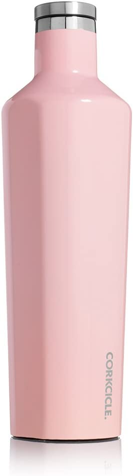 Corkcicle Canteen- Water Bottle and Thermos - Keeps Beverages Cold for Over 25, Hot for Over 12 Hours - Triple Insulated with Shatterproof Stainless Steel Construction - 25 oz. (25-Ounce, Rose Quartz)