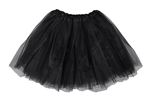 JenniWears Youth Tulle Tutu Teen Ballet Running Mini Fluffy Skirt Assorted Color