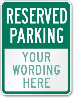 Reservado aparcamiento [] de texto personalizado (verde ...