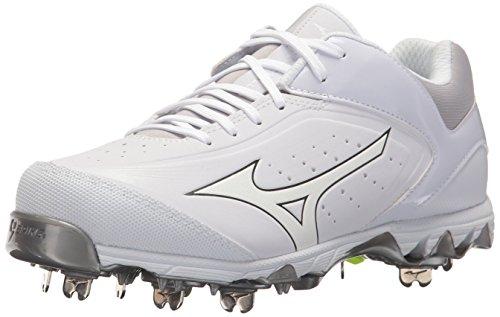 Fastpitch Womens Cleats (Mizuno (MIZD9) Women's Swift 5 Fastpitch Cleat Softball Shoe, White/White, 8 B US)