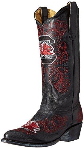NCAA South Carolina Fighting Gamecocks Womens 13-Inch Gameday Boots Black