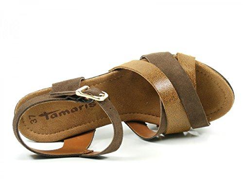 Tamaris 1-28356-28 Sandalias para mujer Braun