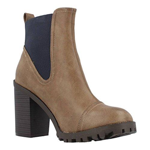 Botas para mujer, color marr�n , marca MUSTANG, modelo Botas Para Mujer MUSTANG 52610 LE Marr�n marr�n