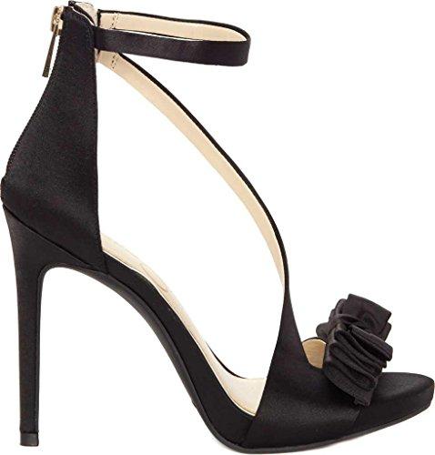 Jessica Simpson Women's Remyia Pump, Black Satin, 9 Medium US (Satin Bow Dress Heel Pump)