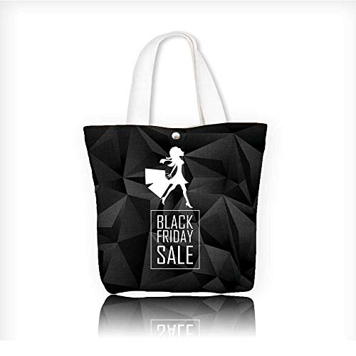 (shopping bagfolding shopping bagBlack friday sales poster template Special offers advertising Low poly)