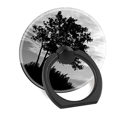 (Hundax INC Tree Silhouette Finger Ring Stand 360 Degree Rotation Thin Universal Phone Ring Holder Kickstand Compatible with All Smartphones and Tablets.)