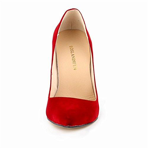Kengät Sandaalit Shoesland Pumput Naisten L005 Punainen Teräväkärkiset Korkokengät qEn8O7nIw