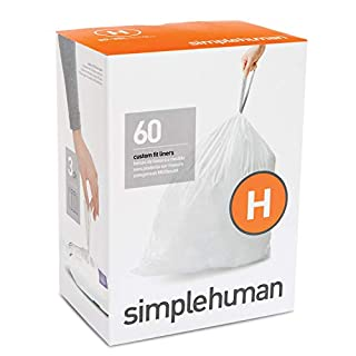 simplehuman Code H Custom Fit Liners, Drawstring Trash Bags, 30-35 L / 8-9 gallon, 60 Count - CW0258 (B010B2L04G) | Amazon price tracker / tracking, Amazon price history charts, Amazon price watches, Amazon price drop alerts
