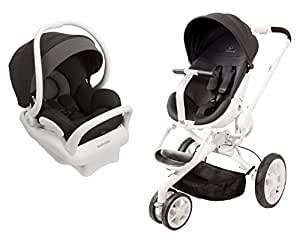 quinny moodd stroller in black irony with 2015 maxi cosi mico max 30 infant car. Black Bedroom Furniture Sets. Home Design Ideas