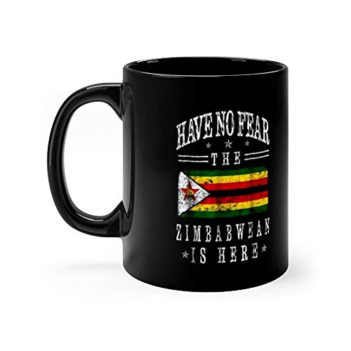 Patriot Zimbabwean Flag Cool Zimbabwe 11 Oz Ceramic Coffee Mug Also Makes A Great Tea Cup With Its Large, Easy to Grip C-handle. 11 Oz Ceramic