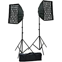 ePhotoInc Photography Photo Portrait Studio Video 1600 Watt Perfect Day Light Softbox Continuous Video Lighting Kit by ePhotoInc HGDS2